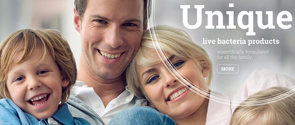 Unique live bacteria products scientifically formulated for all the family